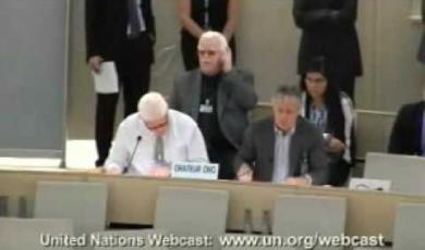 Embedded thumbnail for Peter Ash speaking at the United Nations Human Rights Council in Geneva